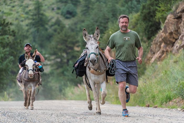 Happy burro racers.