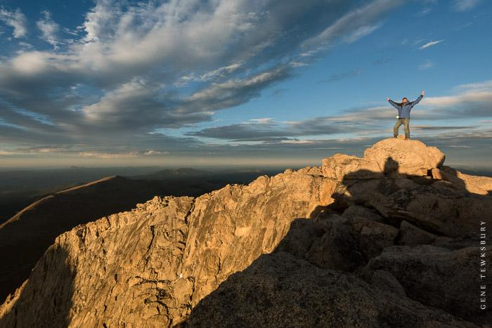 Me (Gene), on the Mount Evans Summit