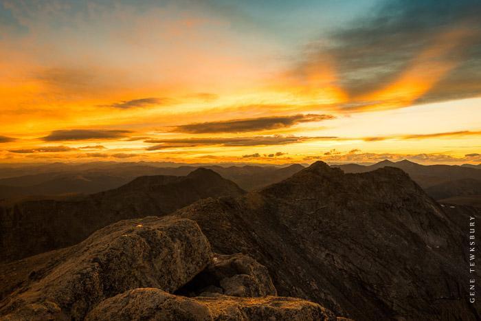 Mount Evans Colorado Sunset